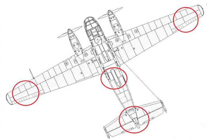 Premeon Survivorship Einschussmuster Flugzeug